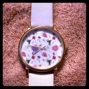 Charming Charlie White Flower Watch